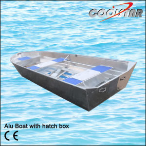 Rescue V Type Aluminum Boat with Hatch Box pictures & photos