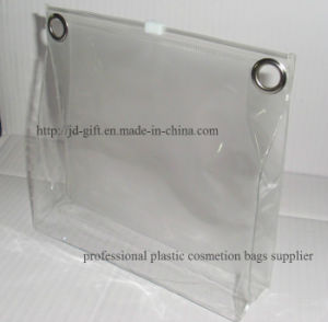 Customized Size Plastic Cosmetic Packing Bag with Company Logo pictures & photos