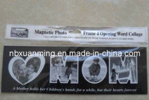 4 Opening Word Collage Mom Magnetic Photo Frame