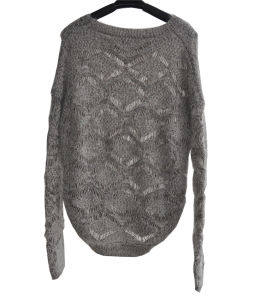 70%Acrylic20%Nylon10%Mohair Knit Pullover Sweater for Ladies pictures & photos