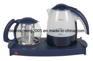 Electric Tea Maker Tray with 1.7L Kettle and 1.4L Tea Pot pictures & photos