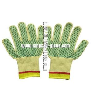 7g String Knitted PVC Dots Cut Resistance Glove-2304.10 pictures & photos