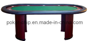 China 10 person poker table with wooden leg sy t13 for 10 person poker table