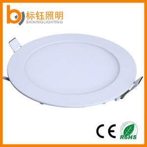 Ultra Slim Flat Daylight Ceiling Light Lamp 12W Round Panel LED Lighting pictures & photos