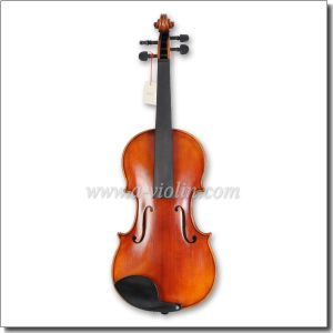 Entry-Level Antique Style Oil Varnish Flamed Violin (VH100Y-N) pictures & photos