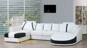 Modern New Design Leather Combination Seats Corner Sofa (L059) pictures & photos