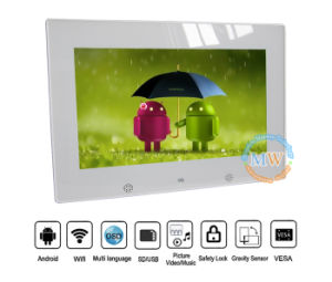 Android Touch Screen WiFi Wireless 10inch Glass Digital Photo Frame Viewer (MW-1026WDPF) pictures & photos