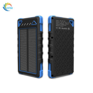 Solar Phone Charger Dual USB 8000mAh Power Bank pictures & photos