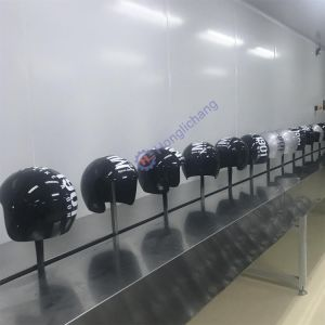 Fixed-Gun UV Varnish Automatic Painting Line for Helmets pictures & photos