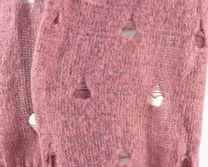 Lady Winter Mohair Knitting Hole Scarf pictures & photos
