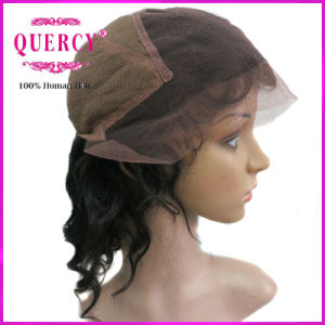 100% Indian Virgin Remy Hair Full Lace Wigs 12inch Body Wave Swiss Lace Wig with Baby Hair pictures & photos