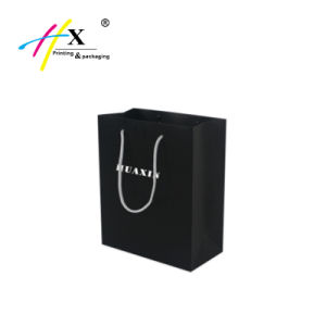 Black Paper Branded Bags and Shopping Bag with Custom Logo pictures & photos