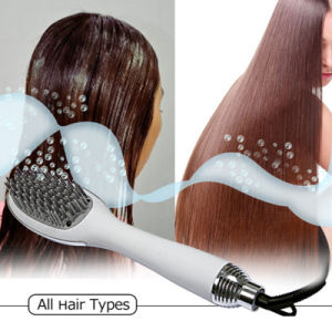 Professional Electric Ionic Hot Air Hair Brush Dryer pictures & photos