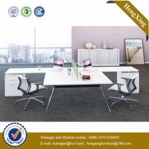 (HX-NJ5115) Wooden Office Partition 2 Seats Staff Table Workstation pictures & photos