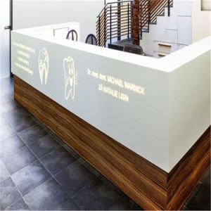 Tw Artificial Stone High Quality Semi Circle Reception Desks Reception Desk Furniture pictures & photos