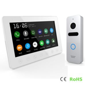 Intercom System 7 Inches Touch Screen Interphone Home Security Video Door Phone pictures & photos