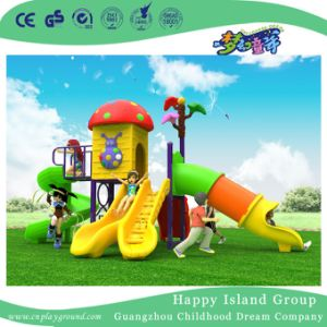 2018 New Outdoor Red Cartoon Mushroom House Children Playground Equipment (H17-A17) pictures & photos