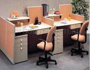 Hot Sale Durable 4-Seats Office Station Wholesale Moern Desk (SZ-WS118) pictures & photos