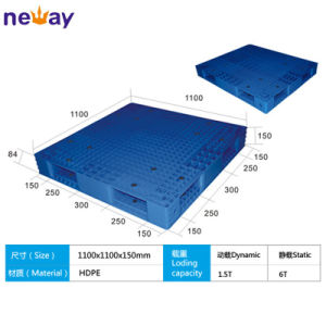China Manufacturer of Big Size Plastic Pallet for Factory Supermarket 1100*1100*150 (mm) pictures & photos