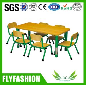 Wooden Kindergarden Furniture Children Study Dining Table and Chair for Sale Sf-09c pictures & photos