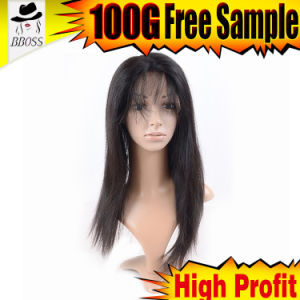8 Inch Yaki Cambodian Hair Full Lace Wig pictures & photos