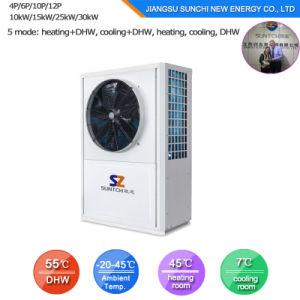 Evi Tech. -25c Winter House Floor Heating 100~350sq Meter 12kw/19kw/35kw High Cop Air Conditioner Heat Pump Split Water Heater pictures & photos