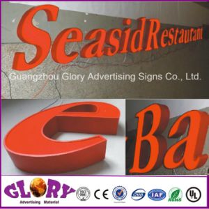 Poslished LED Backlit Sign Outdoor LED Stainless Steel Letter pictures & photos