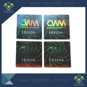 Laser Transparent Number Hologram Sticker pictures & photos