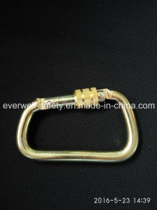 Threaded Lock Safety Hook Spring Carabiner (C303)