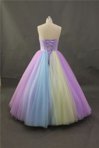 Plurality of Color Stitching Evening Dress, Bridesmaid Dresses pictures & photos