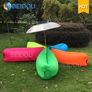Single Mouth LED Lighted DIY Inflatable Folding Sleeping Lazy Air Lounger Sofa Chair Lazy Bag pictures & photos