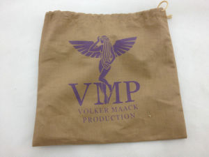 Custom Linen Printing Drawstring Pouches pictures & photos