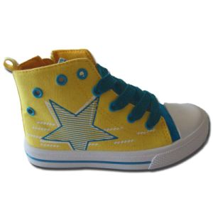 Hot-Selling Kids Vulcanized Canvas DIY Star Upper Shoes Online Shopping pictures & photos