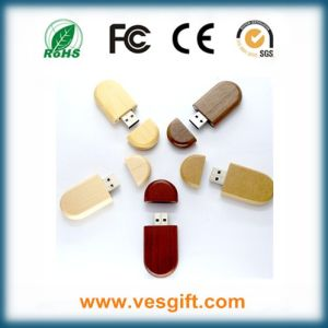 Eco-Friendly Rose Wood High Quality Custom Logo USB Flash Drives pictures & photos