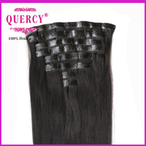 Hot New Products Factory Wholesale PU/Skin Weft Clip in Human Hair Extensions pictures & photos