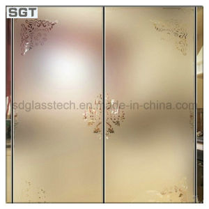 10mm-19mm Acid Etched/Frosted Patterned Glass for Kitchen Paitition pictures & photos