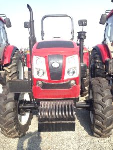 100HP 4X4 4WD Farm Wheel Tractor with 6-Cylinder Diesel Engine pictures & photos