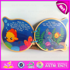 2015 Creative Entertaining Kid Wooden Book, High Quality Children Learning Wooden Book, New Design Wooden Book for Student W12e004 pictures & photos