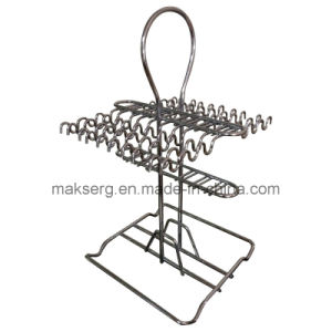 Chrome Coated Shiny Steel Wire Holder for Dinnerware pictures & photos