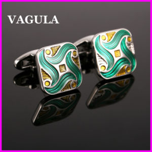 VAGULA Quality Enamel Gemelos Cufflinks (HL10135) pictures & photos