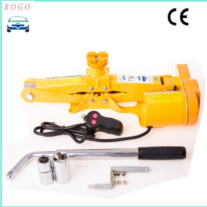 1-10tons Electric Scissor Jack with Hand Manual Wheel Spanner pictures & photos