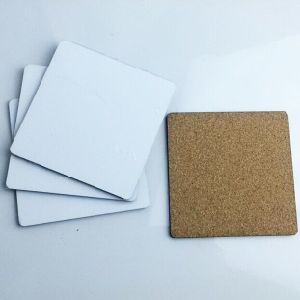 Sublimation MDF Blanks Square Cork Coaster Free Samples