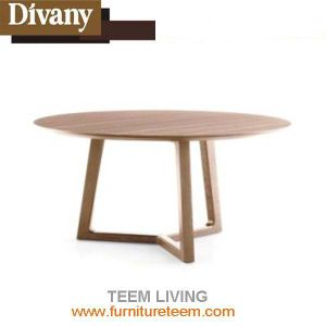 Home Furniture Round Solid Wood Dining Table pictures & photos