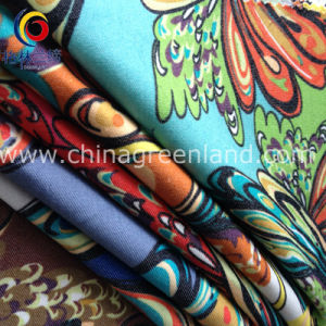 Garment Printed Imitate Denim Twill Fabric of Cotton Spandex (GLLML179) pictures & photos
