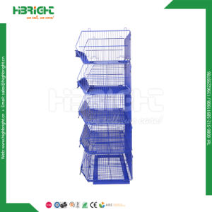 Supermarket Promotional Stacking Basket Stand pictures & photos