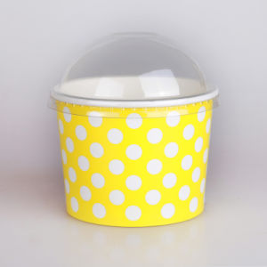 Paper Ice Cream Cup with Dome Lid, Most Popular PE Coated Ice Cream Paper Cup pictures & photos