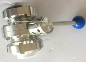 Sanitary Threaded Butterfly Valve with Ss Union pictures & photos