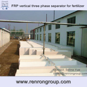 FRP Material Vertical Three Phase Separator for Fertilizer Facility S-07