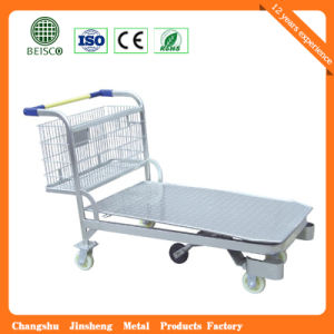 High Quality Hand Manual Warehouse Trolley pictures & photos