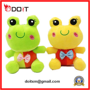 2 Color Lovely Couple Plush Frog with Bow pictures & photos